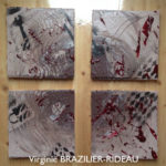Abstrait 128- 4 Toiles de 20x20