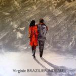 Promenade D'amoureux sous la neige-80x80-Vendue