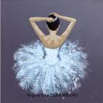 Ballerine Bleue-60x60-Vendu