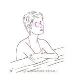 Jeune Femme aux Lunettes Roses-Format A4-Vendue