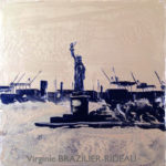 Miss Liberty Gold&Black-20x20