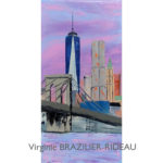 One Trade Center & Brooklyn Bridge-25x50