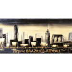 Skyline Manhattan Gold&Black-40x20-Réservé