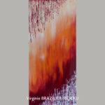 Abstrait Rouge 649-30x60cm-180€