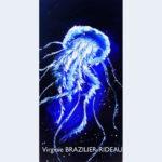 Méduse Bleue-30x60-Vendue