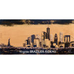 Miss Liberty & Manhattan-30x60-Vendu