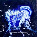 Méduse Bleue 20x20