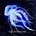 Méduse Bleue 30x30
