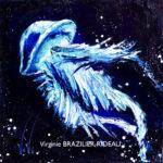 Méduse Turquoise 20x20-Vendue
