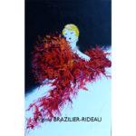 Femme au Boa Rouge-Format 12M