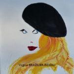 Femme au Béret noir-40x40