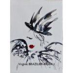 Femme au Chapeau-Format 1F -Vendue