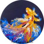 Fish Tail-32cmØ-Au profit de Galettes d'Artistes/AO France-Népal
