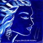 Femme Bleue-30x30
