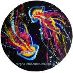 Duo de Méduses Multicolores- Ø 50cm - Réservée
