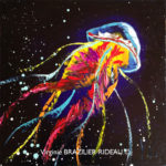 Méduse Multicolore-30x30cm