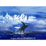 Whale in Blue-Format F12(61x50cm)-305€