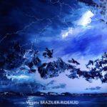 Ciel Orageux Bleu et Turquoise - 50x50cm