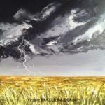 Ciel orageux sur Champ de Blé -50x50cm