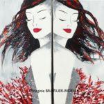 Diptyque Femmes Coquelicot-2 toiles 8M